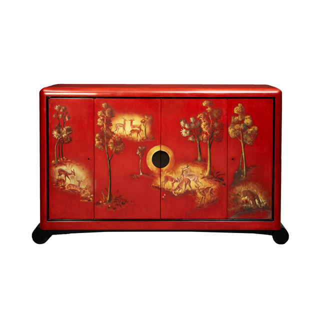 , 'Chinese red lacquer cabinet ,' 1937, DeLorenzo Gallery
