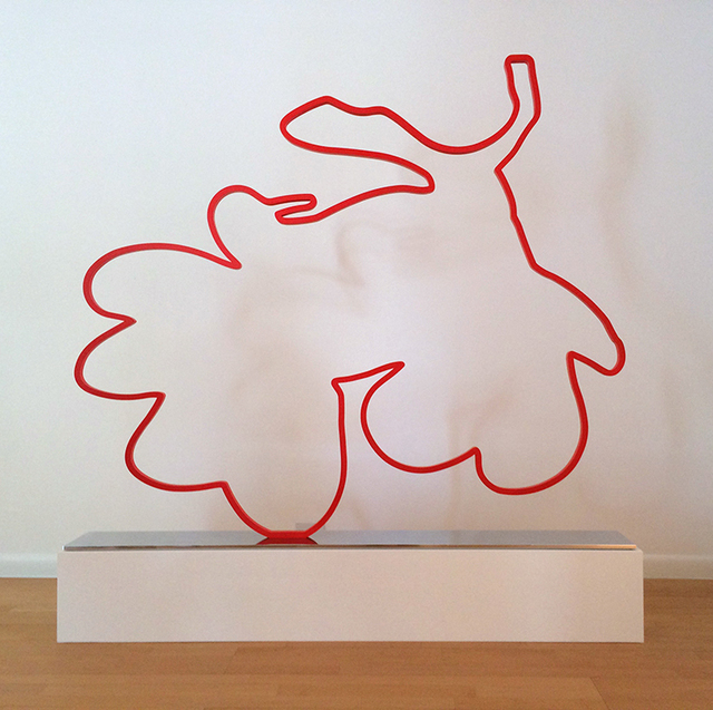 , 'Red Lantern (Outline),' 2014, Nikola Rukaj Gallery