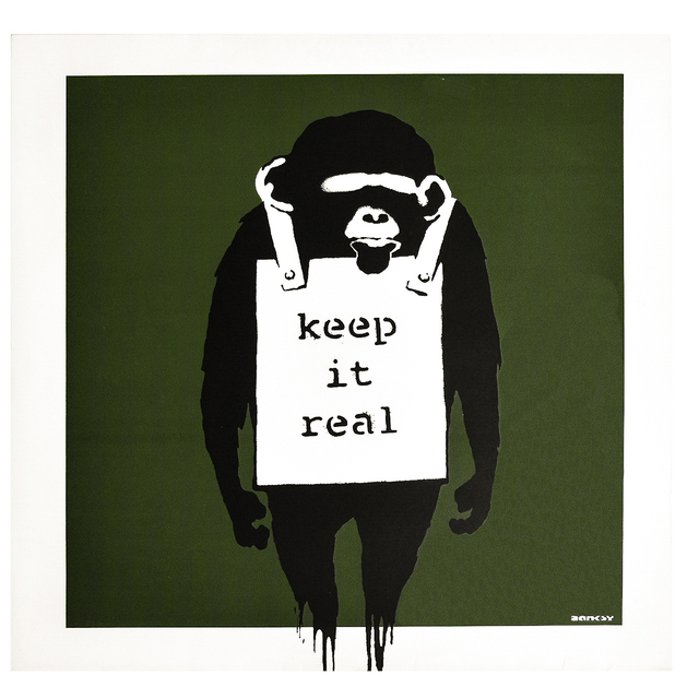 Banksy, 'KEEP IT REAL / LAUGH NOW (Green Cover Album)', 2008, Print, Offset print on album cover with vinyl record, Silverback Gallery
