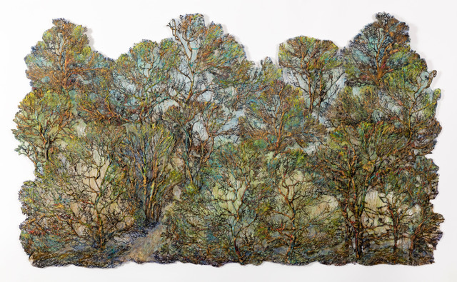 Lesley Richmond, 'Green Gold Forest', 2019, Duane Reed Gallery