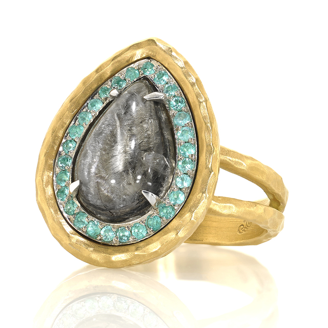 , 'Rutile Quartz Paraiba Tourmaline Ring,' 2015, Szor Collections