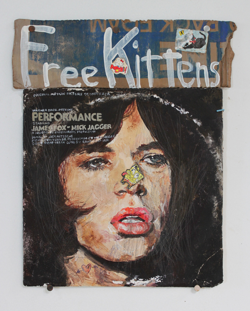Kristen Morgin, 'Pretty Mick Jagger with Kittens', 2014, Mixed Media, Unfired clay, paint , ink., LAUNCH LA