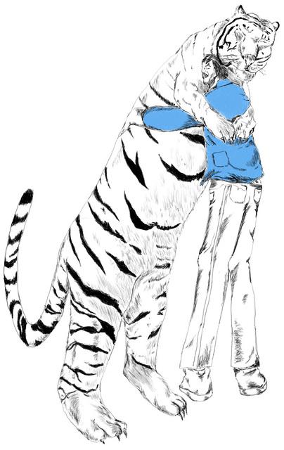Gerald Wiggins, 'Man and Tiger', 2014, Creativity Explored