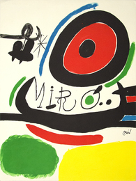 Poster for the Exhibition of Three Books by Joan Miro in Osaka