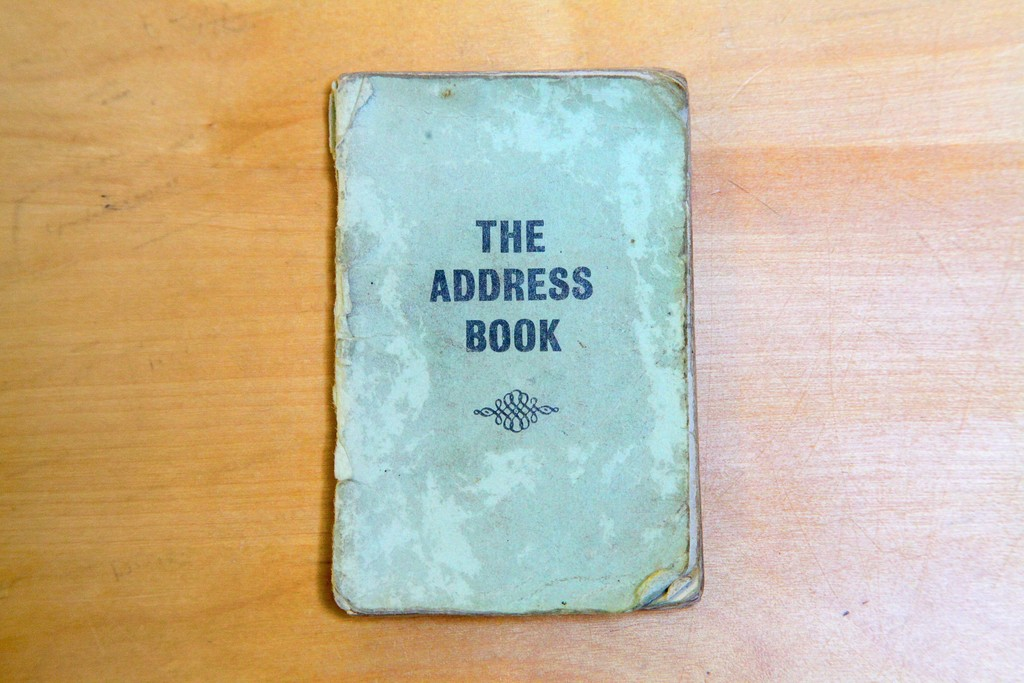 The cover of Bob Damron's original 1965 address book. Courtesy the ONE National Gay and Lesbian Archives, 2016