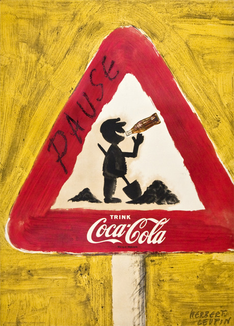 Herbert Leupin, 'Coca-Cola - Pause and Drink Coke - Road Sign', 1957, Omnibus Gallery