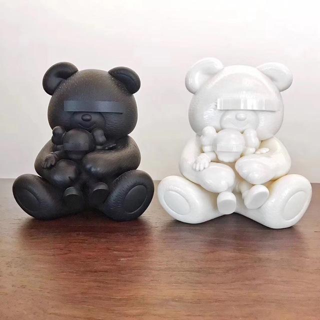 KAWS, 'Undercover Bear Set (White and Black)', 2009, Plus