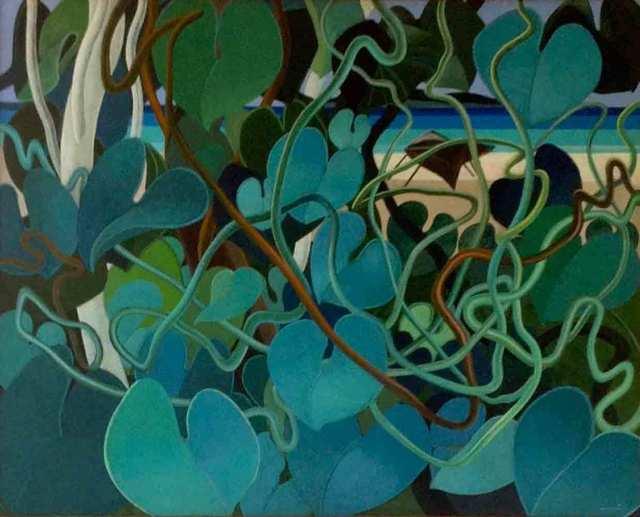 , 'Green by the Beach,' , Myriam Nader Haitian Art Gallery