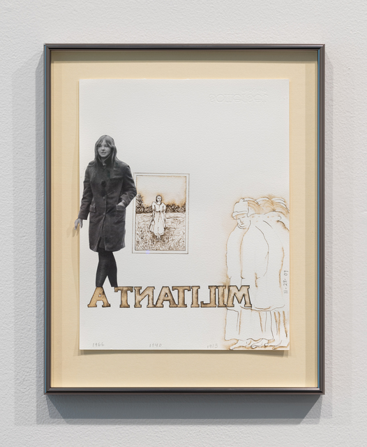 Faith Wilding, 'Militanta (Faith out of jail with her mom's wedding picture and some suffragettes)', 2009, Upfor