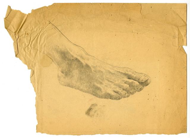 , 'Sketch of a Foot,' 1946, Hakgojae Gallery
