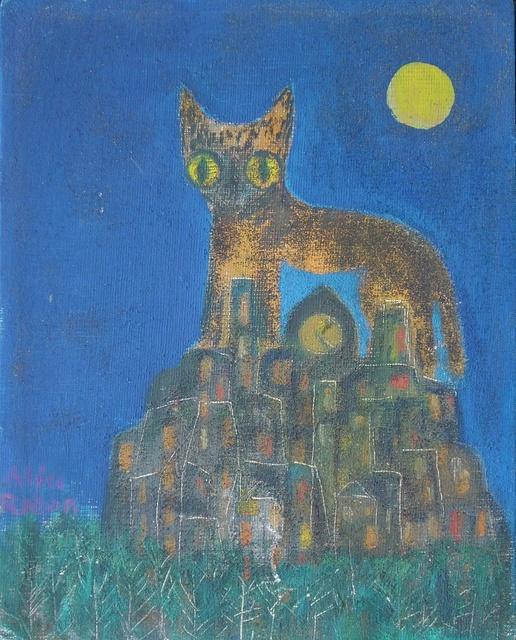 , 'Gato Nocturno,' , Galeria Oscar Roman