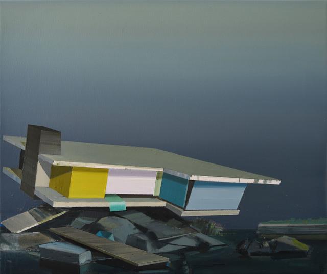 , 'Kuestenlandschaft mit Ruine,' 2018, Galerie Jochen Hempel