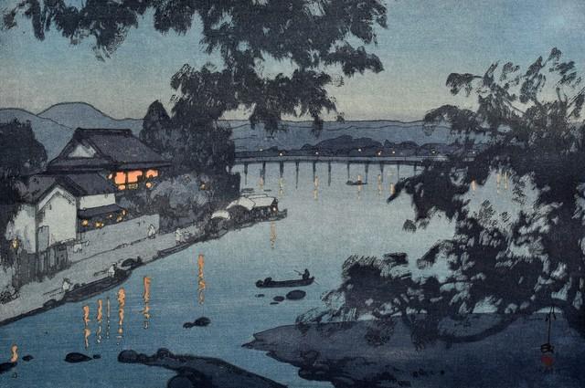 , 'Evening on the Chikugo River, Hita,' 1927, Scholten Japanese Art