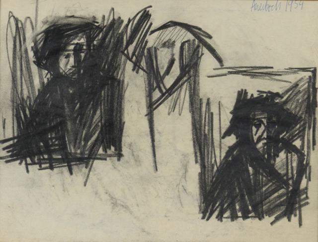 Frank Auerbach, 'Self-Portrait', 1954-1955, Leslie Sacks Gallery