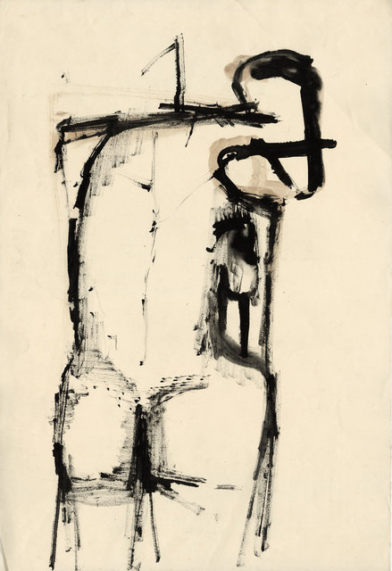 Henry Cliffe, 'Standing Nude', ca. 1960, Drawing, Collage or other Work on Paper, Watercolour on paper, Goldmark Gallery