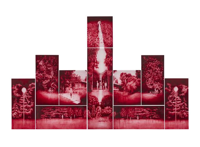 , 'Red Garden,' 2018, WHATIFTHEWORLD