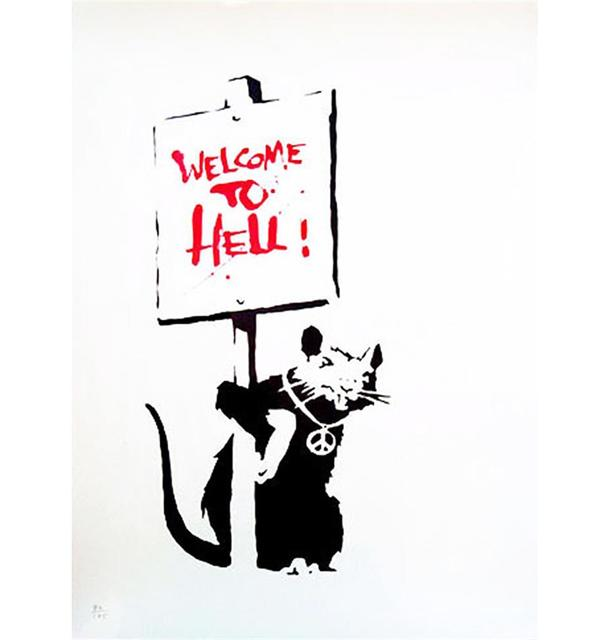 Banksy, 'Welcome to Hell ', 2004, Lougher Contemporary