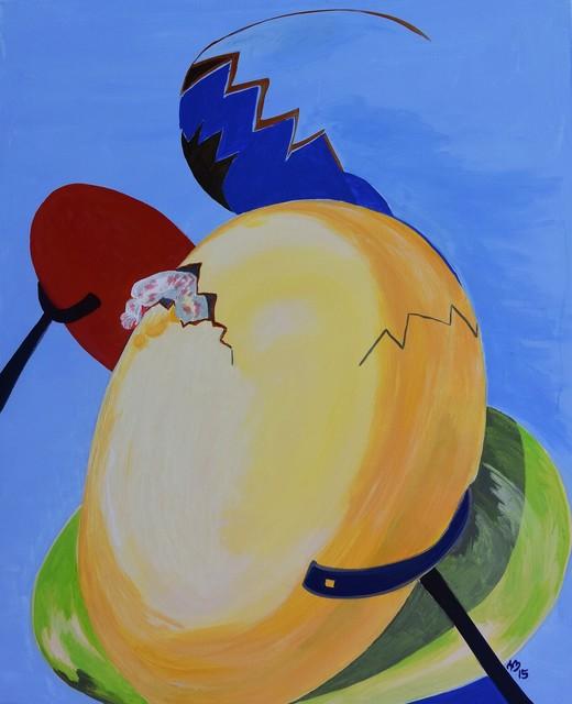, 'one egg arising,' 2015, the gallery STEINER