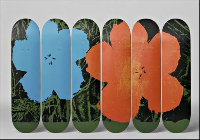 , 'Set of Six (6) Limited Edition Skateboard Decks with Certificate of Authenticity (COA) with hanging hinges,' 2016, Alpha 137 Gallery