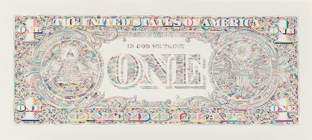 Tom Friedman, 'Dollar Bill Back', 2011, Heritage Auctions