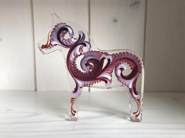 Tara Austin, 'Dala Horse (Auburgine)', 2019, Sculpture, Oil on plexiglass, Joseph Nease Gallery
