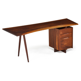 Single Pedestal Turned-Leg Desk, New Hope, PA