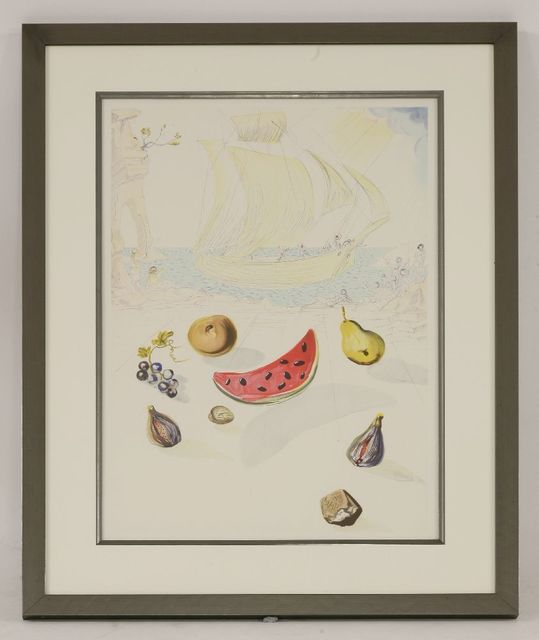 Salvador Dalí, 'Ship and Fruits', 1986, Print, Lithograph printed in colours, Sworders
