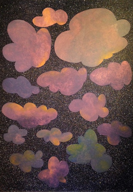 , 'Clouds with Gibbous Moon,' 2016, The Schoolhouse Gallery