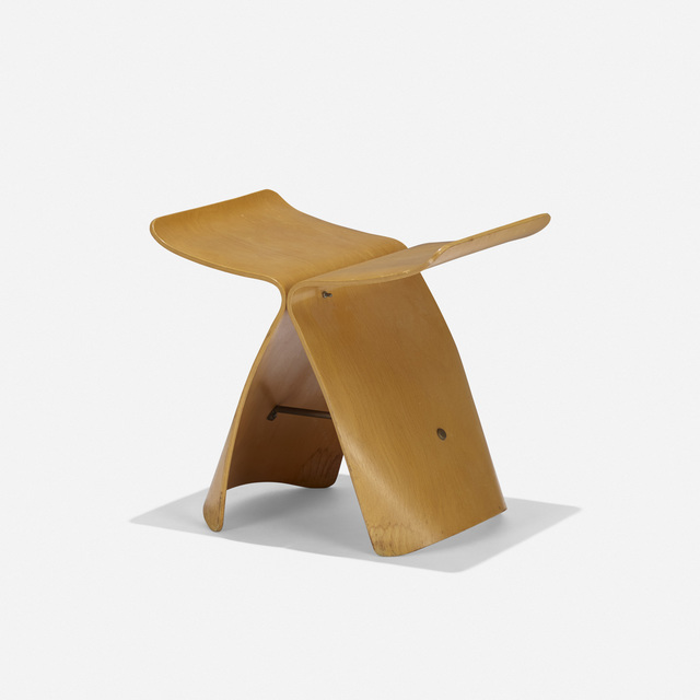 Sori Yanagi, 'Butterfly stool', c. 1954, Design/Decorative Art, Birch, brass, Rago/Wright