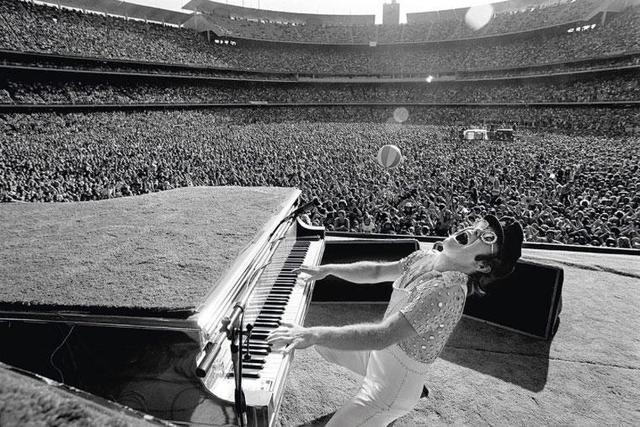 Terry O'Neill, 'Elton John Live at Dodger Stadium', ca. 1975, Photography, Gelatin Silver Print, Lyons Gallery