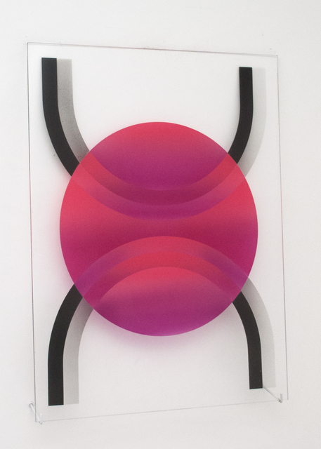 , '(untitled - circle overlapping two split stadia),' , Galleri Urbane