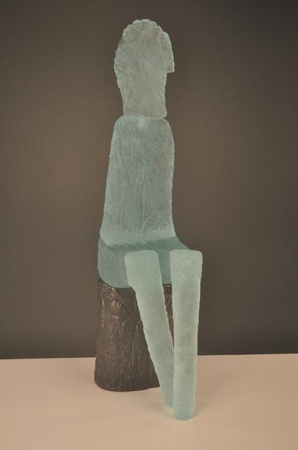 , 'Blue Seated Figure,' 2017, Ken Saunders Gallery