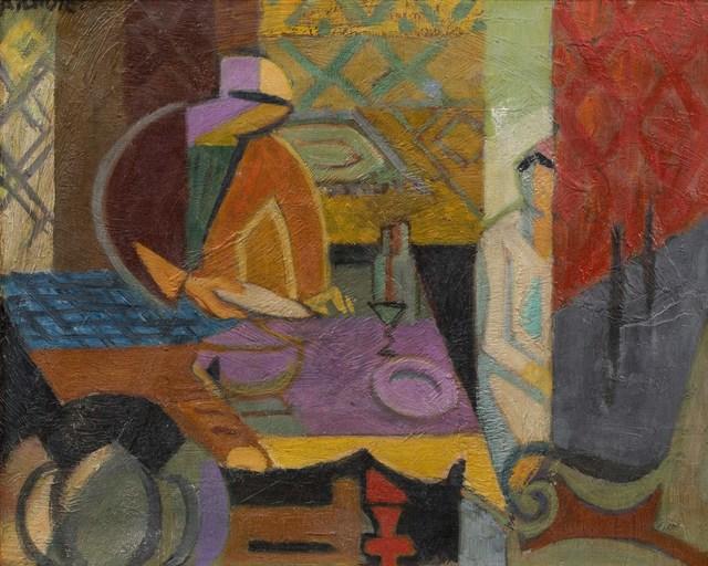 André Lhote, 'La salle à manger', circa 1944-45, Painting, Oil on canvas, Leclere
