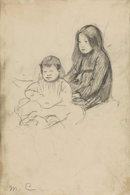 , 'Two Peasant Children on the Grass,' ca. 1886, Adelson Galleries
