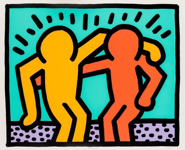 Keith Haring, 'Best Buddies (Littmann p.184-185)', 1990, Forum Auctions