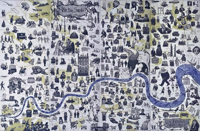 , 'A London Map of Days,' 2014, The Biscuit Factory