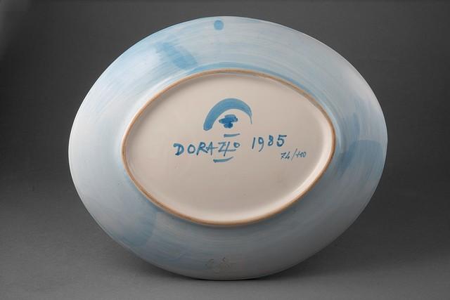 Piero Dorazio, 'Untitled', 1985, Sculpture, Ceramic plate, Finarte