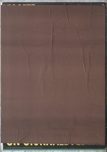 , 'Brown Blank,' 1980, CARDI GALLERY