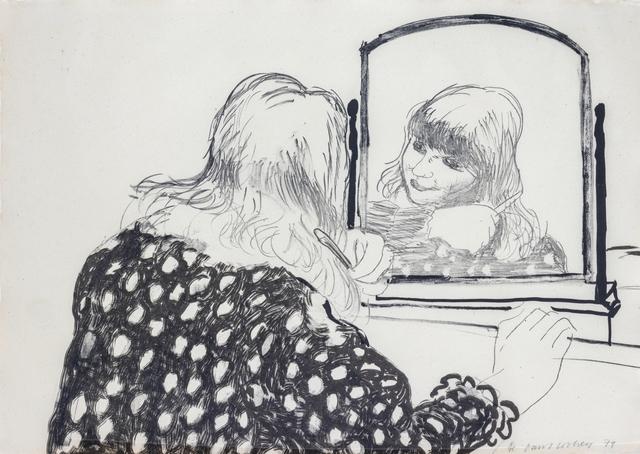 David Hockney, 'Ann Combing Her Hair', 1979, Hindman