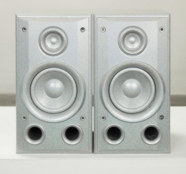 Sadie Barnette, 'Untitled (Small Silver Speakers Set)', 2019, Charlie James Gallery
