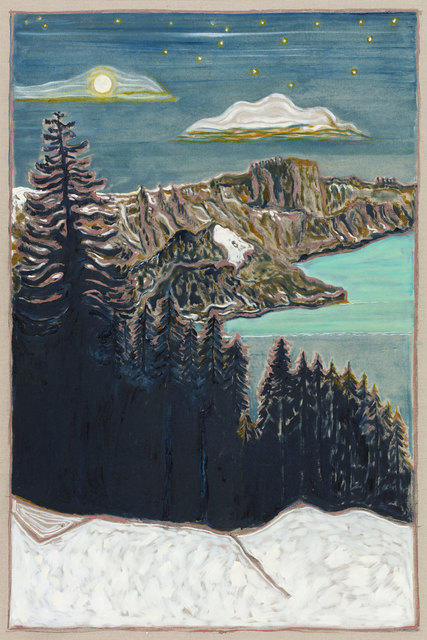 , 'fjord at night,' 2017, Carl Freedman Gallery