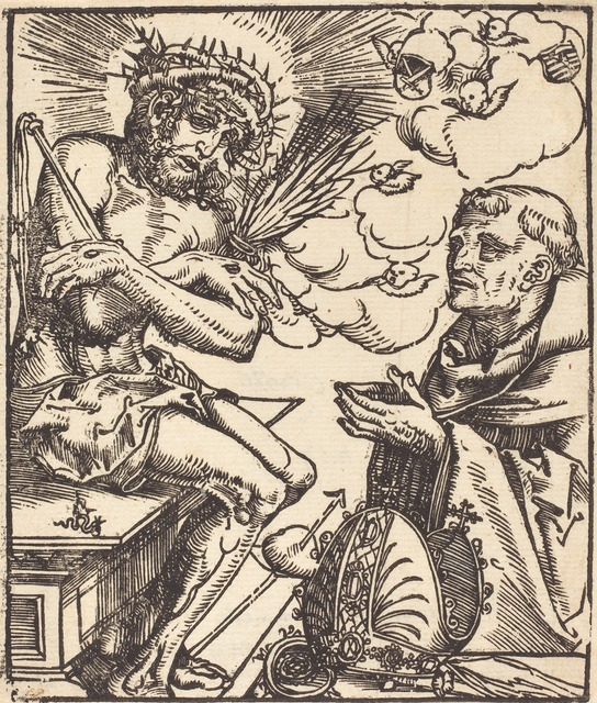 Lucas Cranach the Elder, 'Saint Bernard Adoring the Man of Sorrows', National Gallery of Art, Washington, D.C.