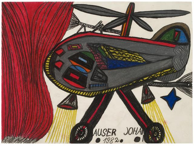 , 'Hubschrauber und Feuer (Helicopter and Fire),' 1982, Ricco/Maresca Gallery