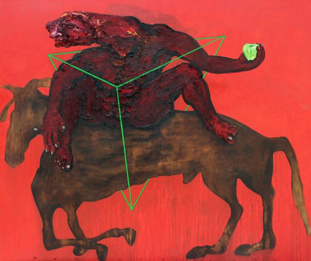 , 'Yeşil Evren - Yeşil Elma,' 2016, Anna Laudel