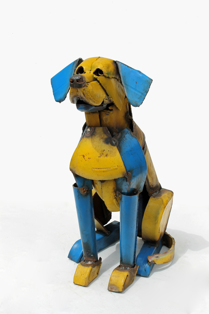, 'Yellow and Blue Dog ,' 2017, Rebecca Hossack Art Gallery