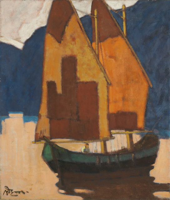 , 'Sailing Boat on the Lake Garda,' 1934, Galerie Bei Der Albertina Zetter