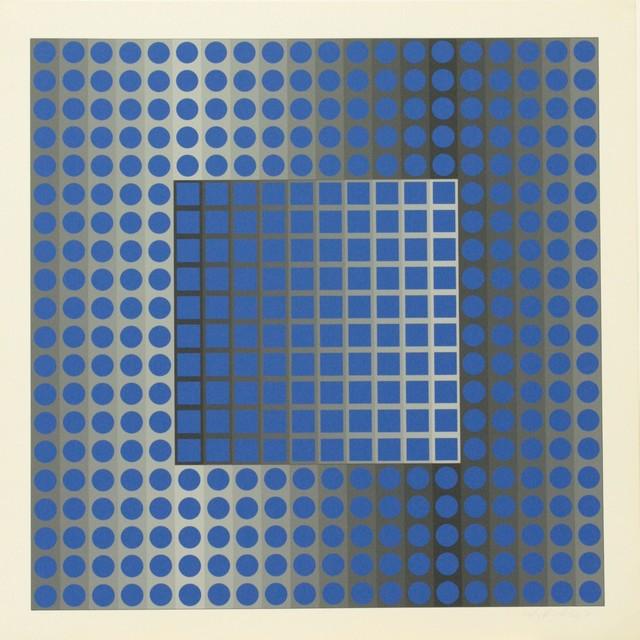 Victor Vasarely, 'ZETT KSZ', 1965, Print, Serigraph, Omer Tiroche Gallery