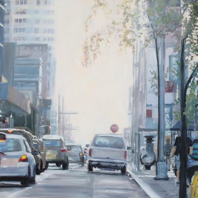 Karen Woods, ' Morning Manhattan', 2019, Painting, Oil on canvas, George Billis Gallery