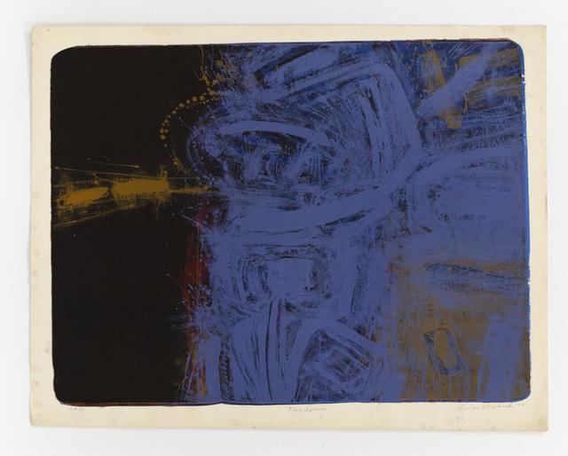 George Miyasaki, 'Blue Serene', 1956, Print, Lithograph, Mary Ryan Gallery, Inc