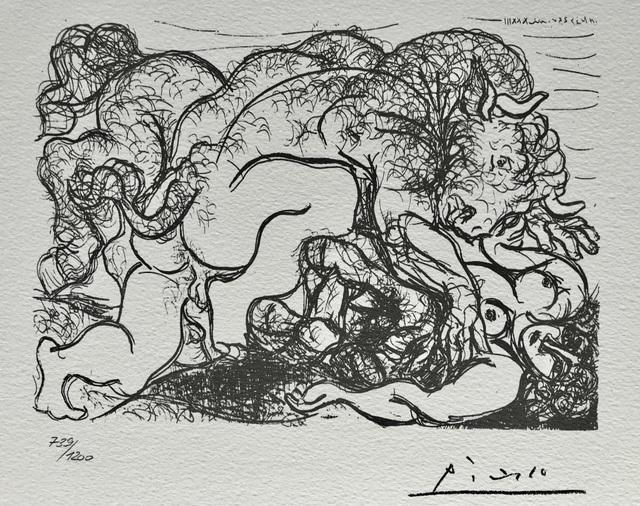 Pablo Picasso, 'Minotaure amoureux d'une femme centaure (Suite Vollard Planche LXXXVII)', 1973, ByNewArt